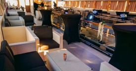 Sea Star Lounge Upper Inner Deck Setup - Adriatic Sea Event Ship