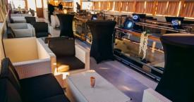 Sea Star Lounge Upper Inner Deck Setup - Adriatic Sea Event Ship