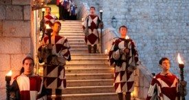 Dubrovnik gala dinner welcome guards