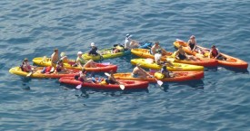 Kayaking around Hvar island