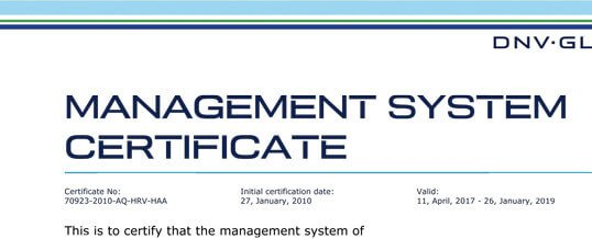 Improved Customer Satisfaction – ISO 9001-2015