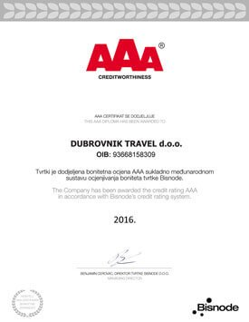 AAA Solvency Excellence Certificate 2016