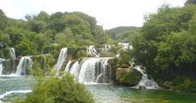Nacional park Krka waterfalls