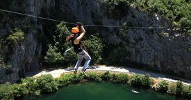 Split Riviera Top 5 Activities - Cetina Canyon Zip Line